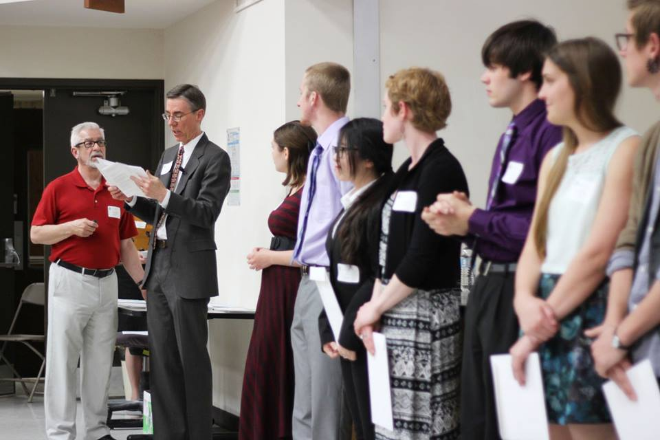 students receiving awards at 2015 Student Award Ceremony