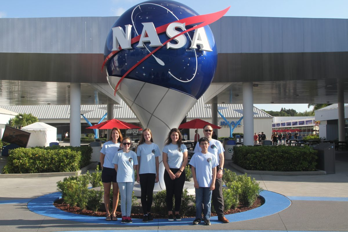 high school and middle school students at NASA in florida