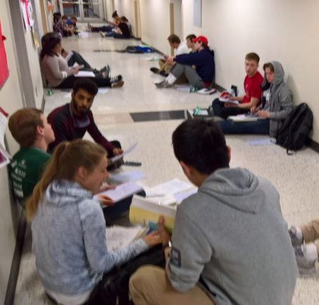 Students struggle to find study space and places to write-up lab reports