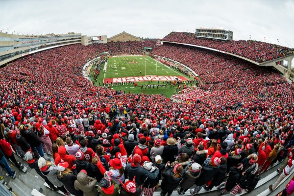 Camp Randall Stadium full of football fans