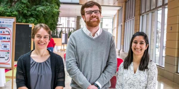 2017 Discovery Challenge winners. From left: Sarah Neuman, Ryan Clark, Naomi Biok.