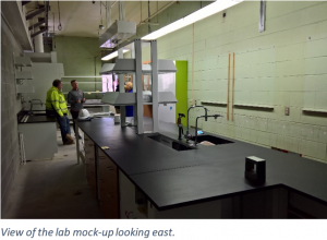 lab mock-up looking east.