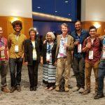 Joseph Kim (right) at the Microscopy Society of America (MSA) conference. Photo courtesy of MSA.