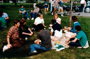 group of people at a picnic