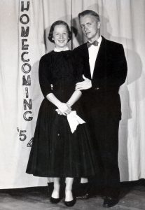 couple dressed in black tie