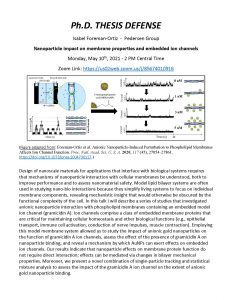 PhD Thesis Defense of Isabel Foreman-Ortiz. Click on Box link below for all content information in PDF format: https://uwmadison.box.com/s/50wzr3nqjt8myiffayq0eqp2yhbdwrx3