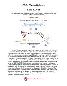 PhD Thesis Defense of Korbin West. Click on Box link below for all content information in PDF format: https://uwmadison.box.com/s/n6aeczkg7sgx5c1sqbo837zj2541atty