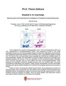 PhD Thesis Defense of Elizabeth Greenhalgh. Click on Box link below for all content information in PDF format: https://uwmadison.box.com/s/hui9cm2lemdoijtxz7b1s574gahf5cae