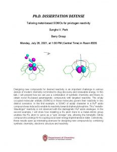 PhD Thesis Defense of Sungho Park. Click on Box link below for all content information in PDF format: https://uwmadison.box.com/s/venkjtax8q5mopyjthmpq4jvh6ued9gg